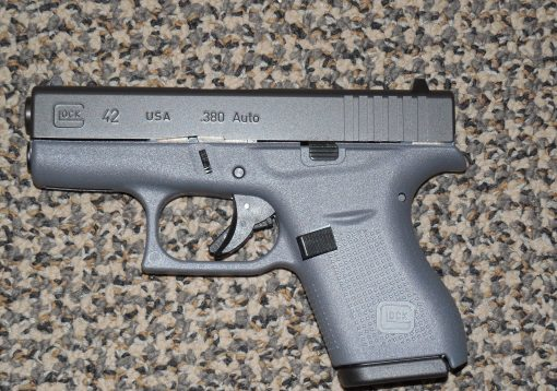 "GLOCK .380 ACP MODEL 42 PISTOL IN ""TACTICAL GREY"