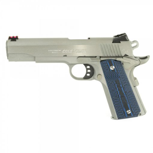 """Colt 1911 Competition 70 Series, 9mm, 5"""" Barrel, 9rd Mag, Blue G10 Grips, SS"""