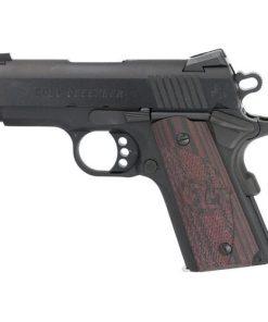 "Colt Defender Compact 1911, 45 ACP, 3"" Barrel, Alloy Frame, Blue Finish, G10 Grips, 7Rd Mag, Novak Night Sights"